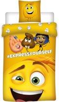 Emoji The movie - Dekbedovertrek - Eenpersoons - 140 x 200 + cm - Geel
