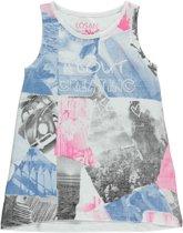 Losan Meisjes Tuniek Shirt Wit met print - T47 - Maat 128