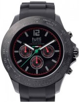 Tutti Milano TM101NO-RE- Horloge -  48 mm - Zwart - Collectie Ardesia
