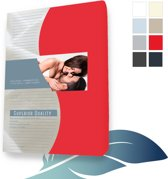 24-Bedding Jersey Elastaan - Mako - Hoeslaken 90x210 cm Rood