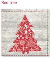 20 LUNCH SERVETTEN 33x33cm Red tree