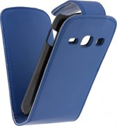 Xccess Leather Flip Case Samsung Galaxy Fame S6810 Blue