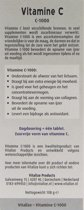 Vitalize Vitamine C 1000 mg Zuurvrij 60 tabletten