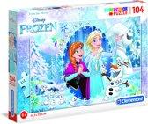 Clementoni - Superkleur puzzels - Frozen - 104 stukjes - Disney