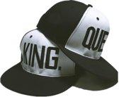 King & Queen | snapback | Petten (set zwart-wit) | Cap | Pet