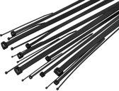 Hersluitbare kabelbinders Tie-Wraps 400 x 7.6mm zwart
