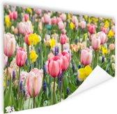 Tulp tuin Poster 180x120 cm - Foto print op Poster (wanddecoratie woonkamer / slaapkamer) XXL / Groot formaat!