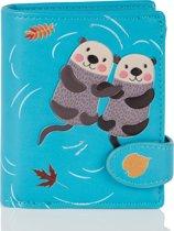 Shagwear Trendy & Funky Compact Vrouwen Portemonnee - Otters (009749sm)