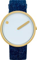Picto PT43332 Horloge - Canvas - Blauw - 40 mm