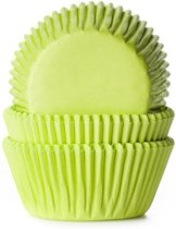 Cupcake vormpjes lime groen 50 st.