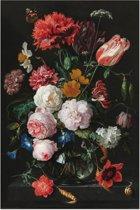 Jan Davidsz de Heem - Stilleven met bloemen in vaas - oude meesters - gouden eeuw - rijksmuseum - Poster 61 x 91.5 cm