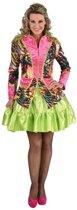 Circus Kostuum | Jas Neon Disco Tijger Vrouw | XXL | Carnaval kostuum | Verkleedkleding