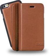 Azuri luxe wallet met verwijderbare magnetische cover - camel  Apple iPhone 6;Apple iPhone 6S
