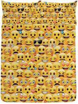 Emoji Iconic - Dekbedovertrek - Tweepersoons - 200 x 200 cm - Geel