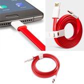 """Originele OnePlus USB - C Oplaadkabel 2A Charging Type C Kabel 1 Meter  €"""" Geschikt voor Oneplus 2, Oneplus 3(t), Oneplus"""