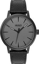 HUGO HU1530074 #STAND - Polshorloge - Leer - Zwart -  Ø 40 mm