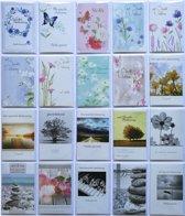 Rouwkaarten - Condoleance kaarten - Set van 20--L-105