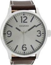 OOZOO Timepieces C7402 - Donkerbruin Grijs - 50mm