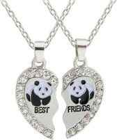 Fako Bijoux® - Vriendschapsketting - Best Friends - Panda