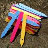 Plantenlabels gekleurd  - set van 216 stuks