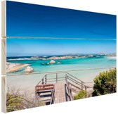 FotoCadeau.nl - Strand Australie Hout 80x60 cm - Foto print op Hout (Wanddecoratie)