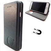 Apple iPhone X/XS - Antique Black Ultra Dun Portemonnee Hoesje - Lederen Wallet Case TPU meegekleurde binnenkant - Book Case - Flip Cover - Boek - 360º beschermend Telefoonhoesje
