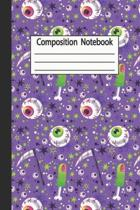Composition Notebook: Halloween Wide Ruled Journal, Notebook, Diary for Adult Writing -120 Pages - 6 x 9''-