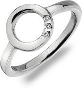 Halo Trio of Diamonds Ring Silver