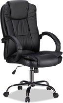 relaxdays bureaustoel - computerstoel ergonomisch - directiestoel hoogte verstelbaar zwart