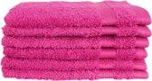 Katoenen Washandjes met Ophang Lus – 6 Pack – 15 x 21 cm – Roze