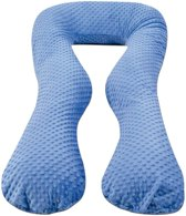 Voedingskussen / Zwangerschapskussens | U-vorm 300 cm | Blauw