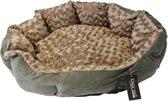 Gebr de Boon teddymand curly softgrijs beige 52 cm