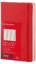 Moleskine Agenda 2017 12 Months Planner Daily Large Scarlet Red Hard Cover