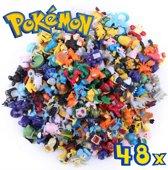 Pokémon Poppetjes - Pokémon Speelgoed - Speelfiguurtjes Pokémon - 48 unieke Pokémon Actiefiguren - Pokémon Pop Set zonder Pokemon bal - actiefiguur