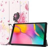 Samsung Galaxy Tab A 10.1 (2019) Hoesje Book Case Hoes – Bloemen Elfje