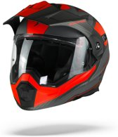 Scorpion ADX-1 Tucson Cement Grey Matt Red Systeemhelm - Motorhelm - Maat L