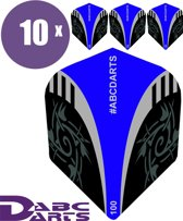 ABC Darts Flights - Extra Stevig - Tribal Blauw - 10 sets (30 stuks Dart Flights)