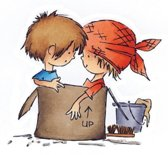 Marianne Design - Don & Daisy - Clearstamp - Moving - DDS3302