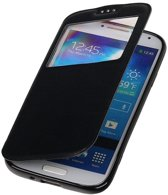 Polar View Map Case Zwart Samsung Galaxy S4 I9500 TPU Bookcover Hoesje