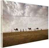 Woestijn India  Hout 120x80 cm - Foto print op Hout (Wanddecoratie)