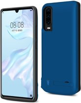 Lunso - Battery Power Case hoes - Huawei P30 - 5000 mAh - Blauw