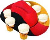 Bierhoed Duits zwart-rood-geel