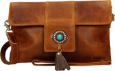 Micmacbags Tribal clutch cognac