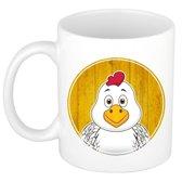 1x Kip beker / mok - 300 ml - kippen bekers voor kinderen