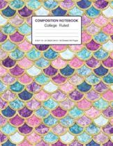 Composition Notebook College Ruled 8.5x11 In 21.59x27.94 50 Sheets/100 Pages: Mermaid Wide Ruled Composition Notebook - 1 Subject Notebook Lined Journ