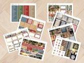 Planner Stickers algemeen  KERST 2019  voor Mascha Planner