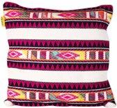 Mycha Ibiza - Sierkussen - kussen - 60 x 60 cm - Multi kleur - katoen - met rits - Benirras