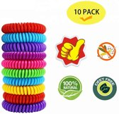 Muggenbandje 10 stuks - Anti muggen armband - 10 stuk - muggen armbandjes - DEET vrij - muggen verjager - niet giftig - armbandje tegen muggen - muggenbescherming