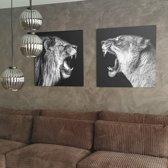 Canvas King and Queen |  60 x 60 cm | Schurk Design