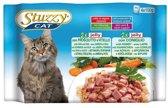 Stuzzy Jelly Multipack - Kat Adult - Natvoer - 2 x 100 gr Ham en Kalf + 2 x 100 gr Konijn